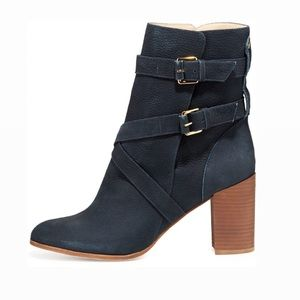 Kate Spade New York Lexy Buckle Ankle Boot Navy